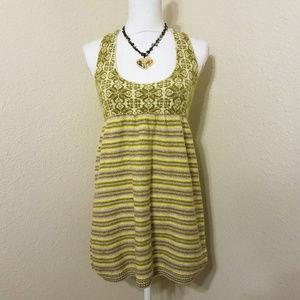 Free People Knit Tank Dress Jumper Olive Cream